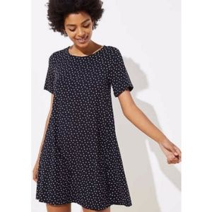 NWT LOFT | Black & White Print Sheath Dress